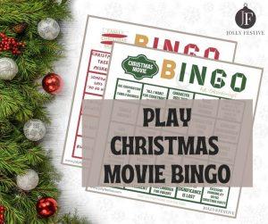 Jolly Festive Christmas Movie Bingo Flyer