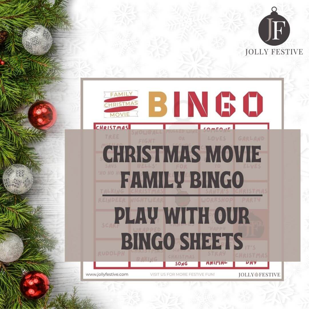 Christmas Movie Family Bingo Flyer