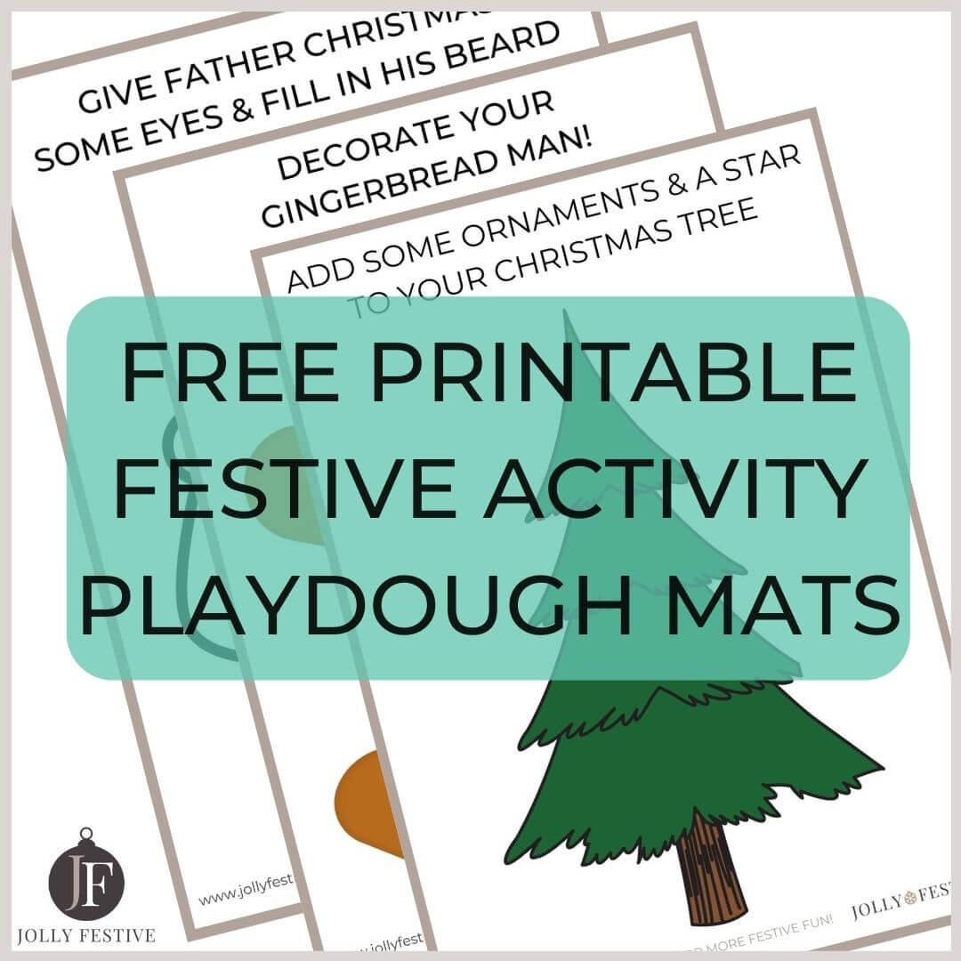 Free Printable Festive Activity Playdough Mats