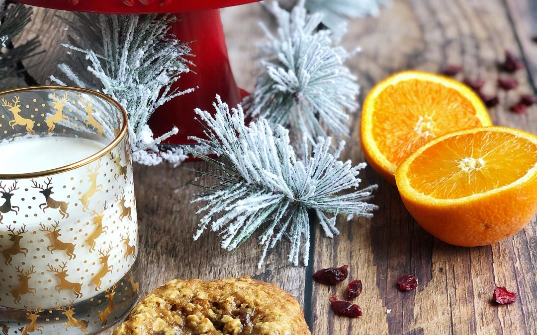 Oatmeal, Cranberry & Orange Cookies