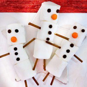 Marshmallow Snowmen on a star plate