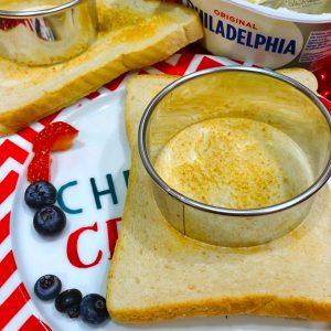 Cream Cheese Snowman North Pole Breakfast Idea