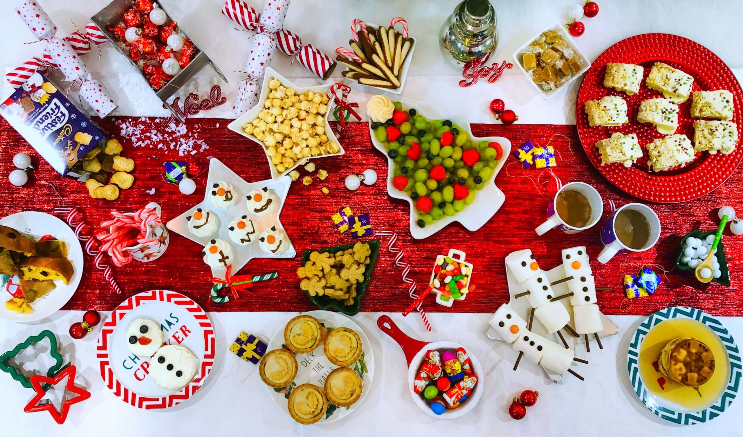Overhead View of North Pole Breakfast Table