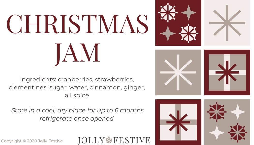 Christmas Jam Label