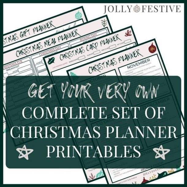 Christmas Planner Printables Promo