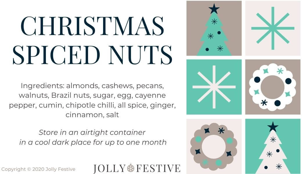 Christmas Spiced Nuts Label