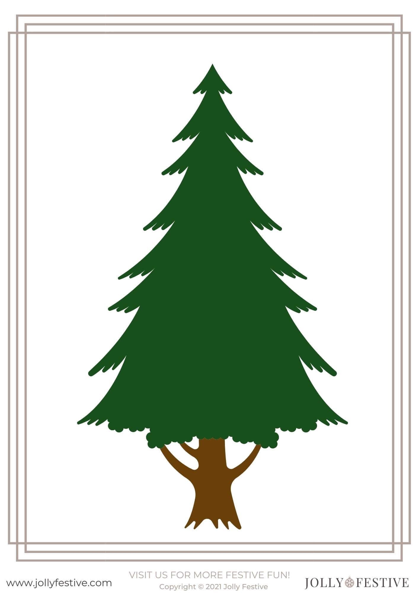 Christmas Tree Template A4 Printable