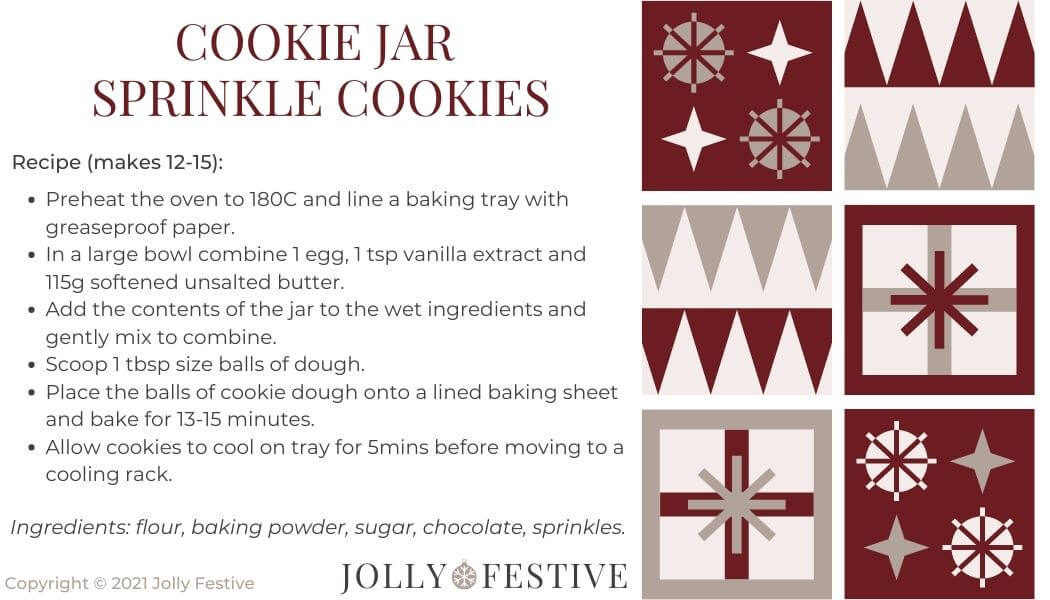 Cookie Jar Sprinkle Cookies Label