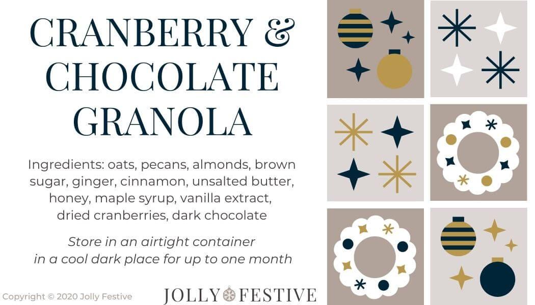 Cranberry & Chocolate Granola Label