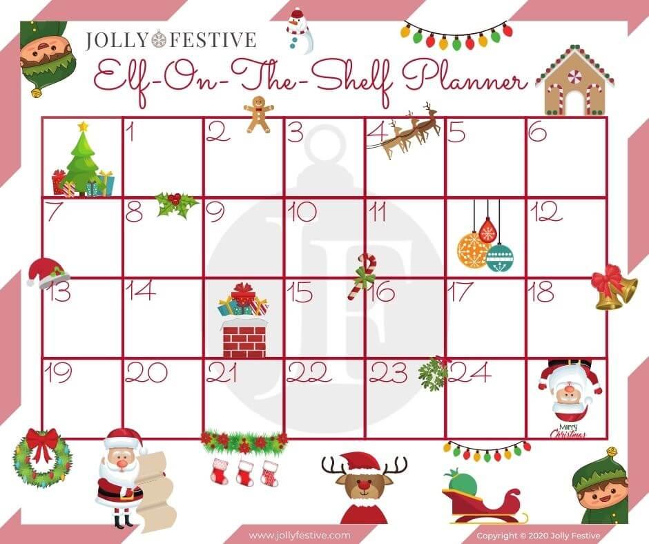 Elf-on-the-Shelf Blank Planner Printable