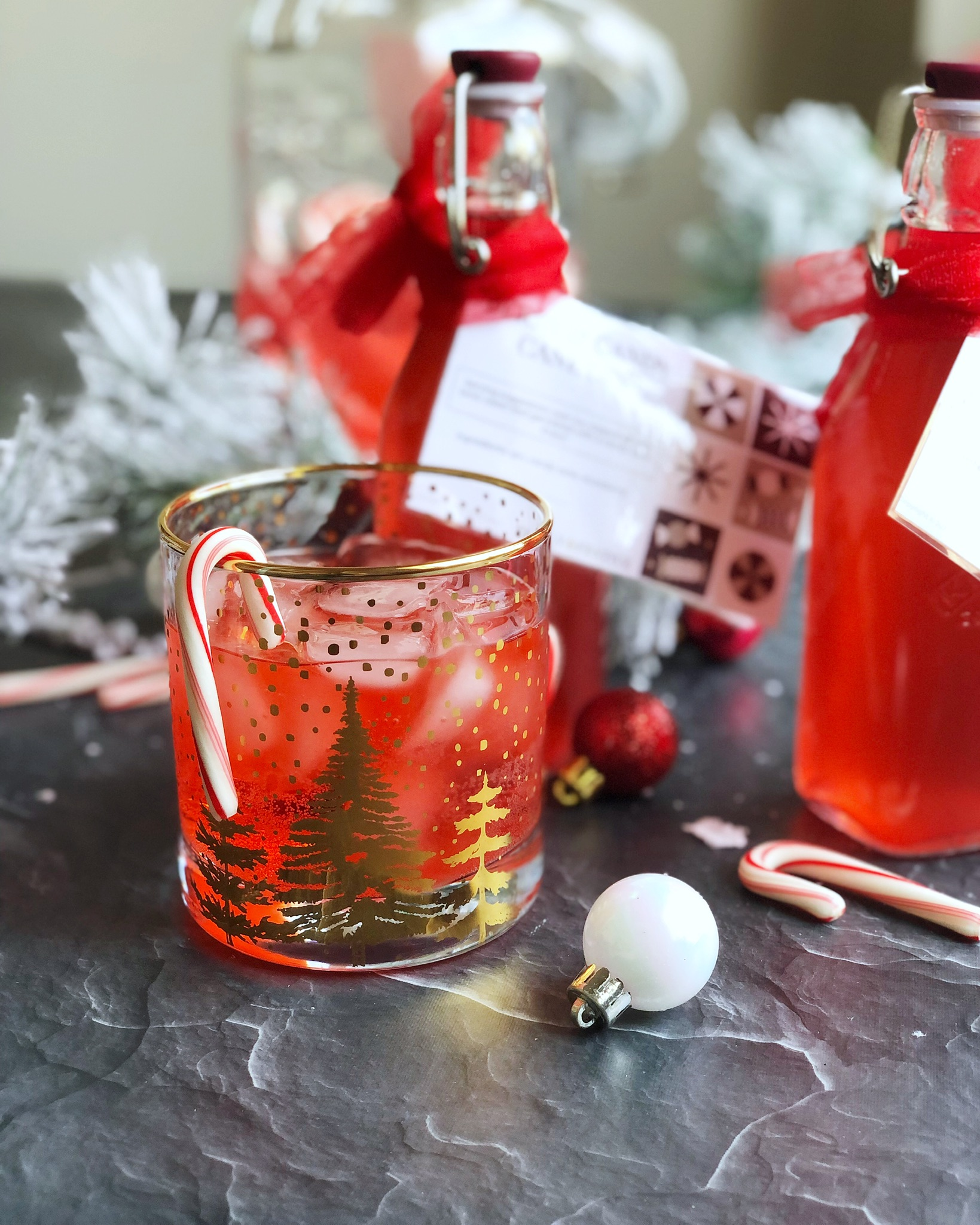 Candy Cane Gin Cocktail