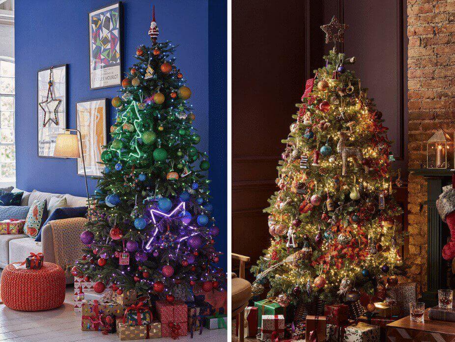 John Lewis Christmas Tree 2020 Designs - Pop Art & Bloomsbury