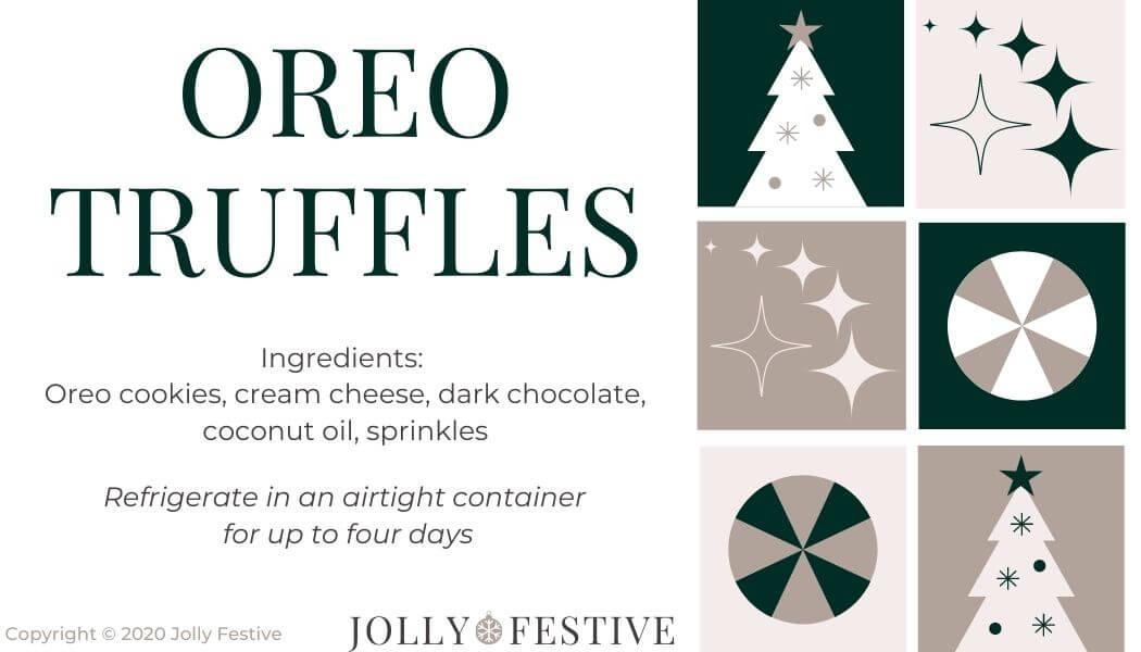 Oreo Truffles Label