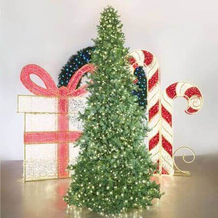The Christmas Designers Magestic Slimline Tree Warm White