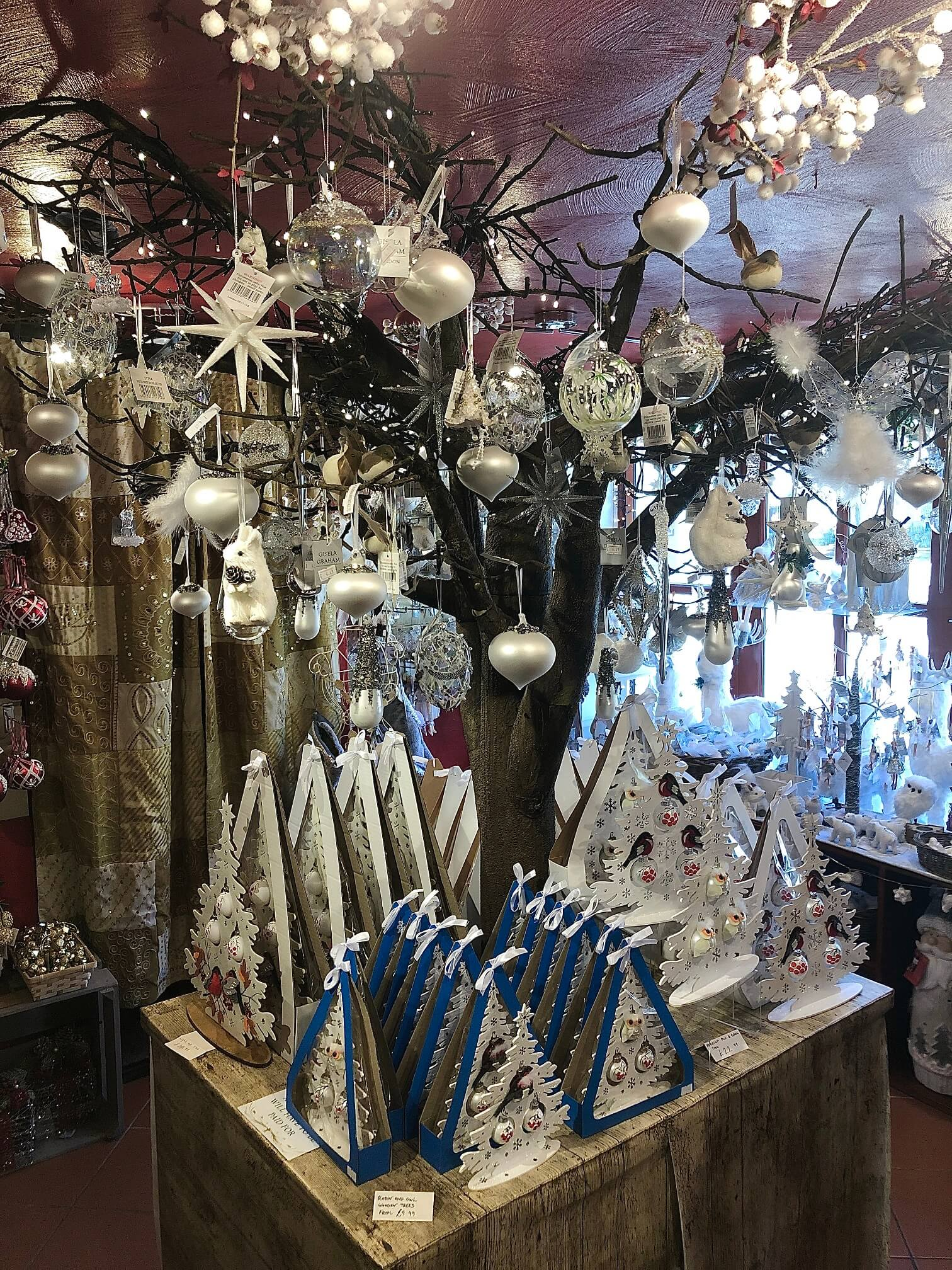 Christmas Decor in Cheddar Gorge Year Round Christmas Shop