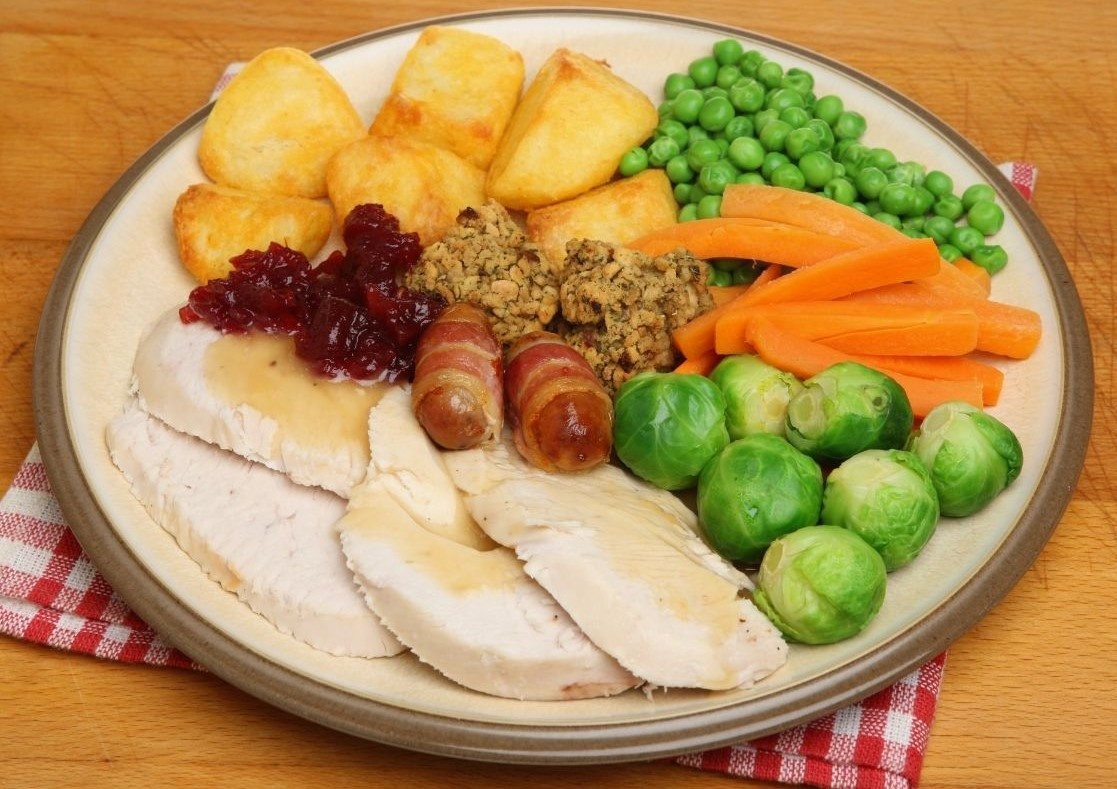 Plate of Christmas Dinner