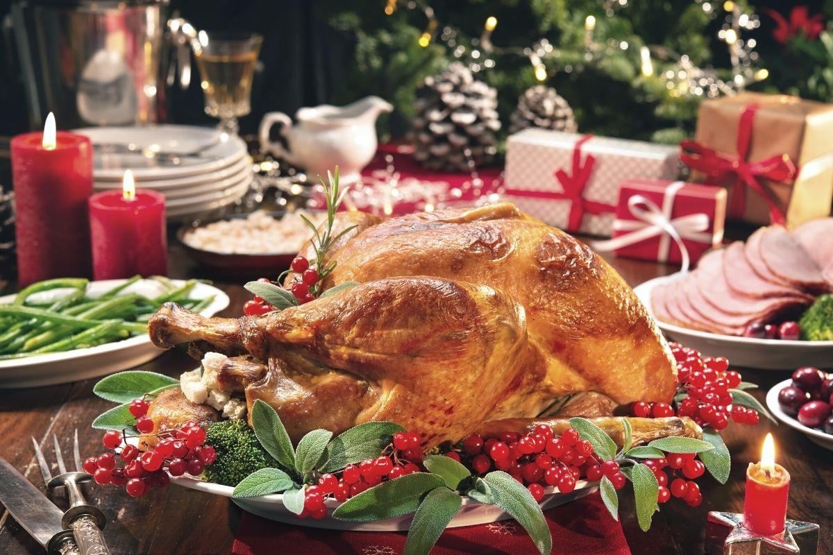 Christmas Dinner on the table - stress-free Christmas Dinner plan