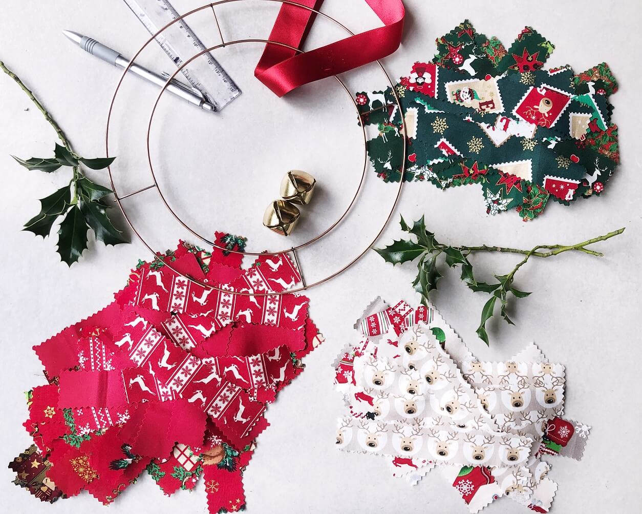 Christmas Rag Wreath Strips Ready To Go