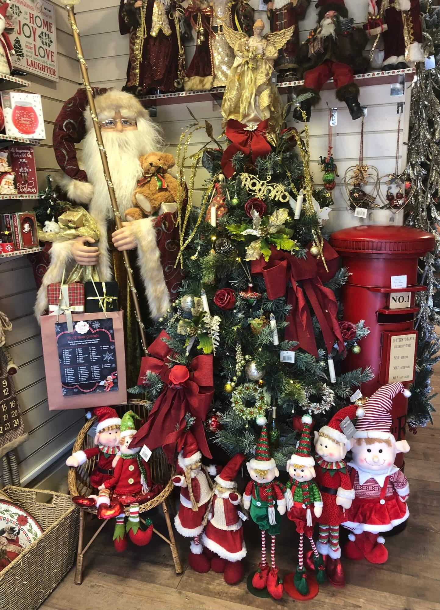 Father Christmas Post Box & Santas for sale