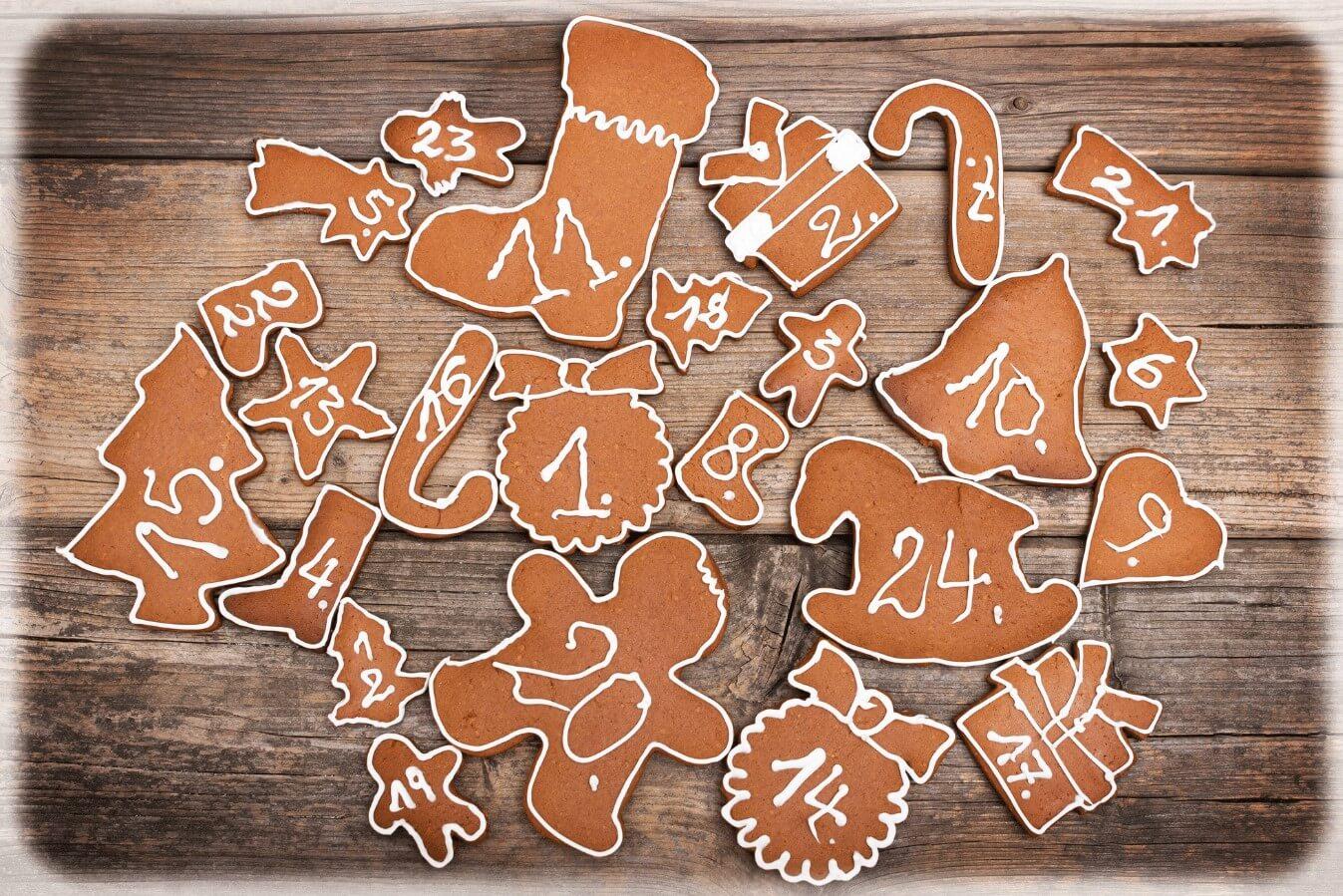 Gingerbread Biscuits Advent Calendar