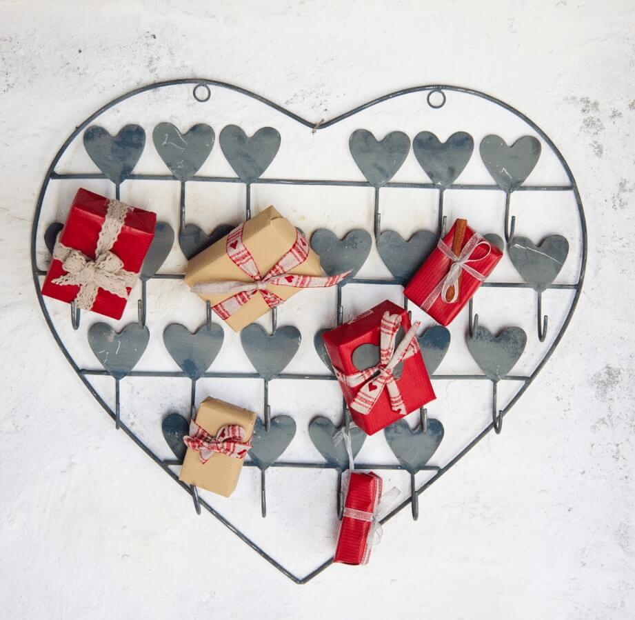 Heart Shaped Wall Advent Calendar