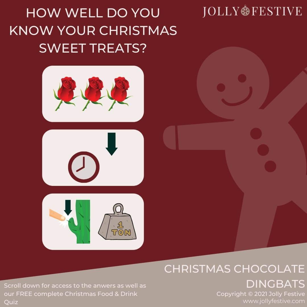 Jolly Festive's Christmas Food & Drink Quiz Dingbat Sampler
