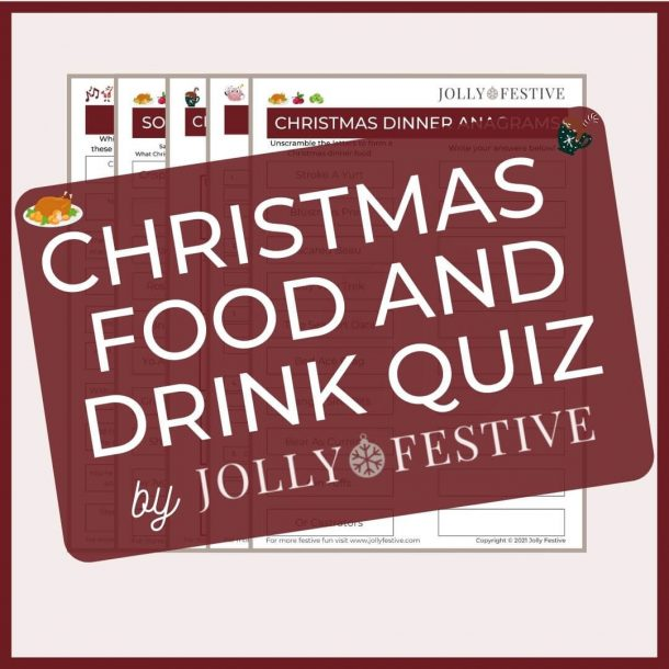 Jolly Festive's Christmas Food and Drink Quiz Flyer