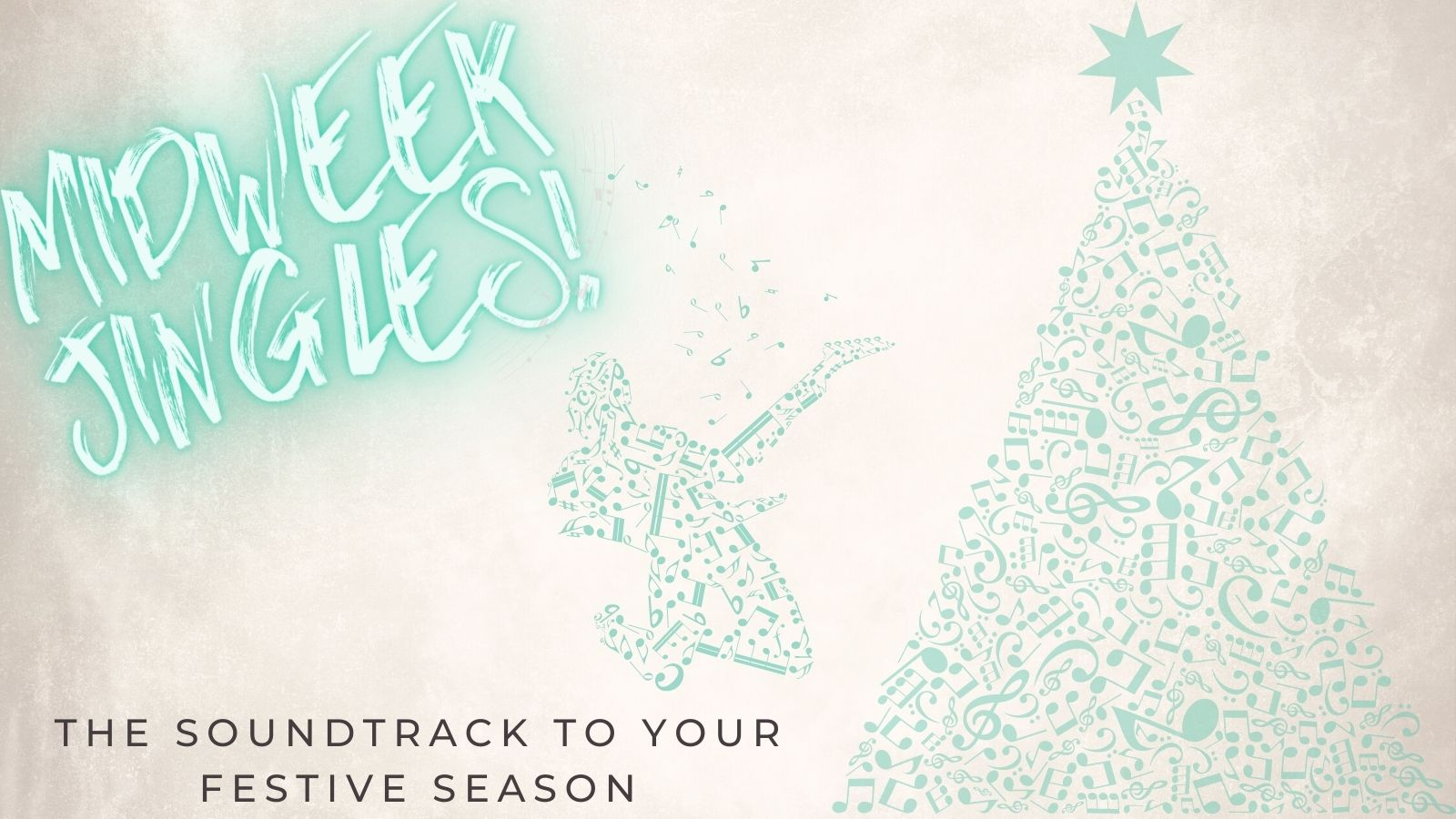 MidWeek Jingles Cover Image Christmas Tree & Guitarist Made From Music Notes