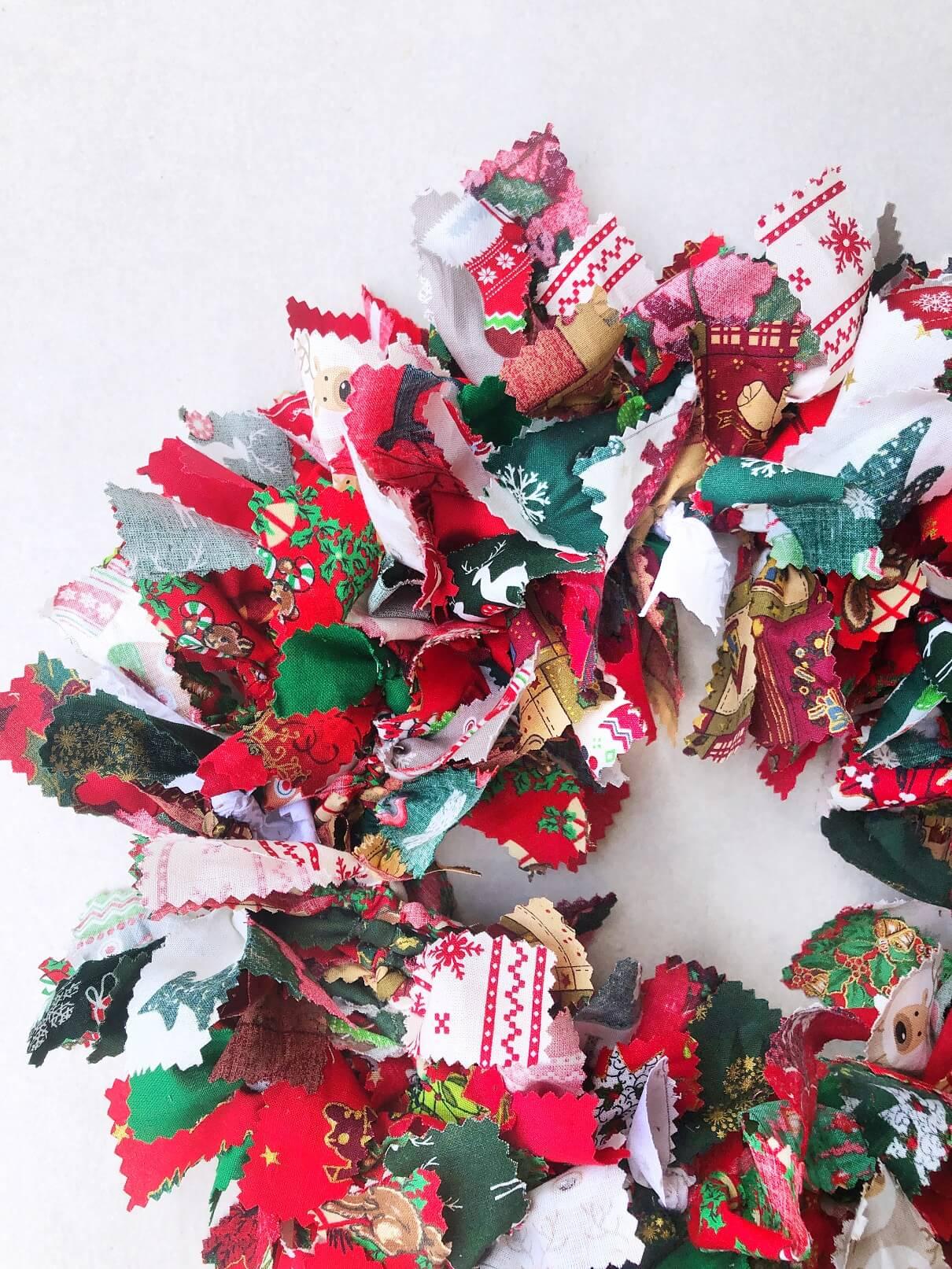 Rag Wreath Close Up