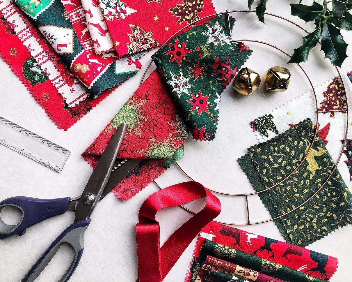 Rag Wreath Materials Needed
