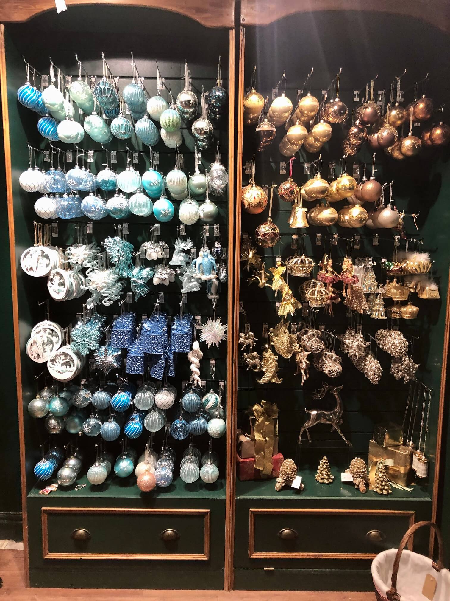 The Nutcracker Year Round Christmas Shop Blue & Gold Ornaments