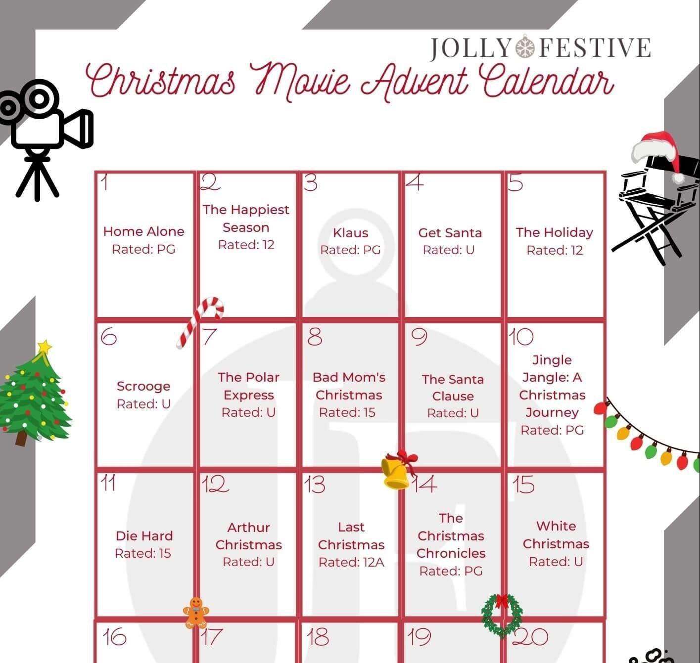 Jolly Festive's Christmas Movie Advent Calendar