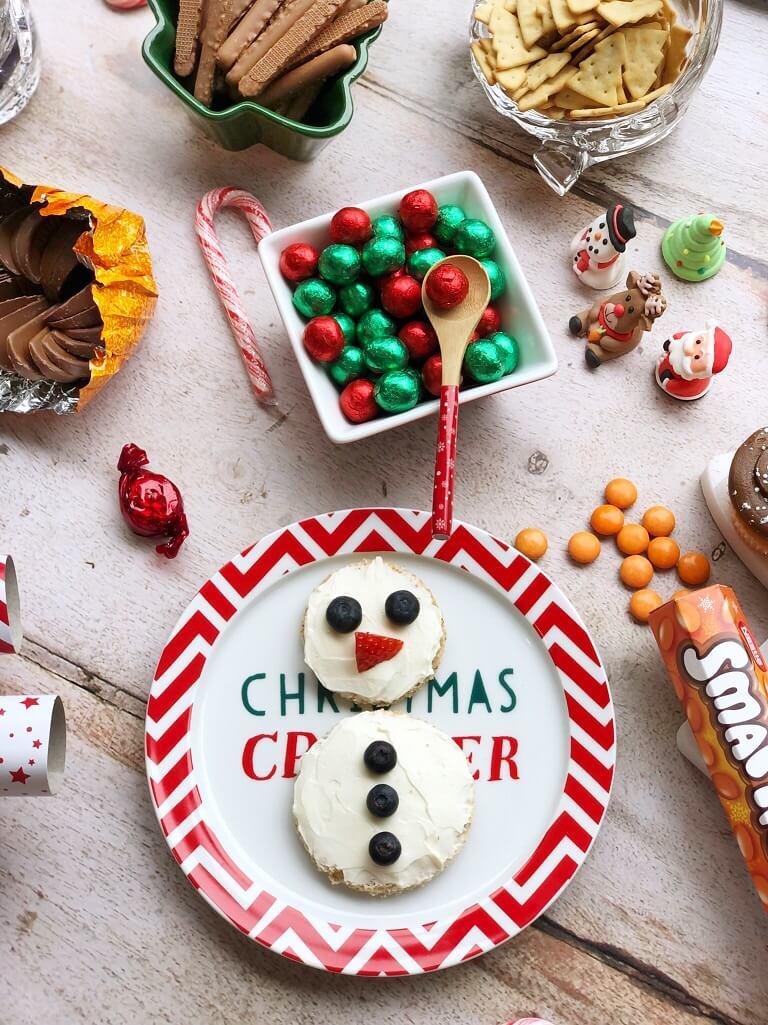 Cream Cheese Snowman Idea
