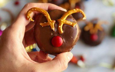 Peanut Butter Oreo Truffle Rudolphs