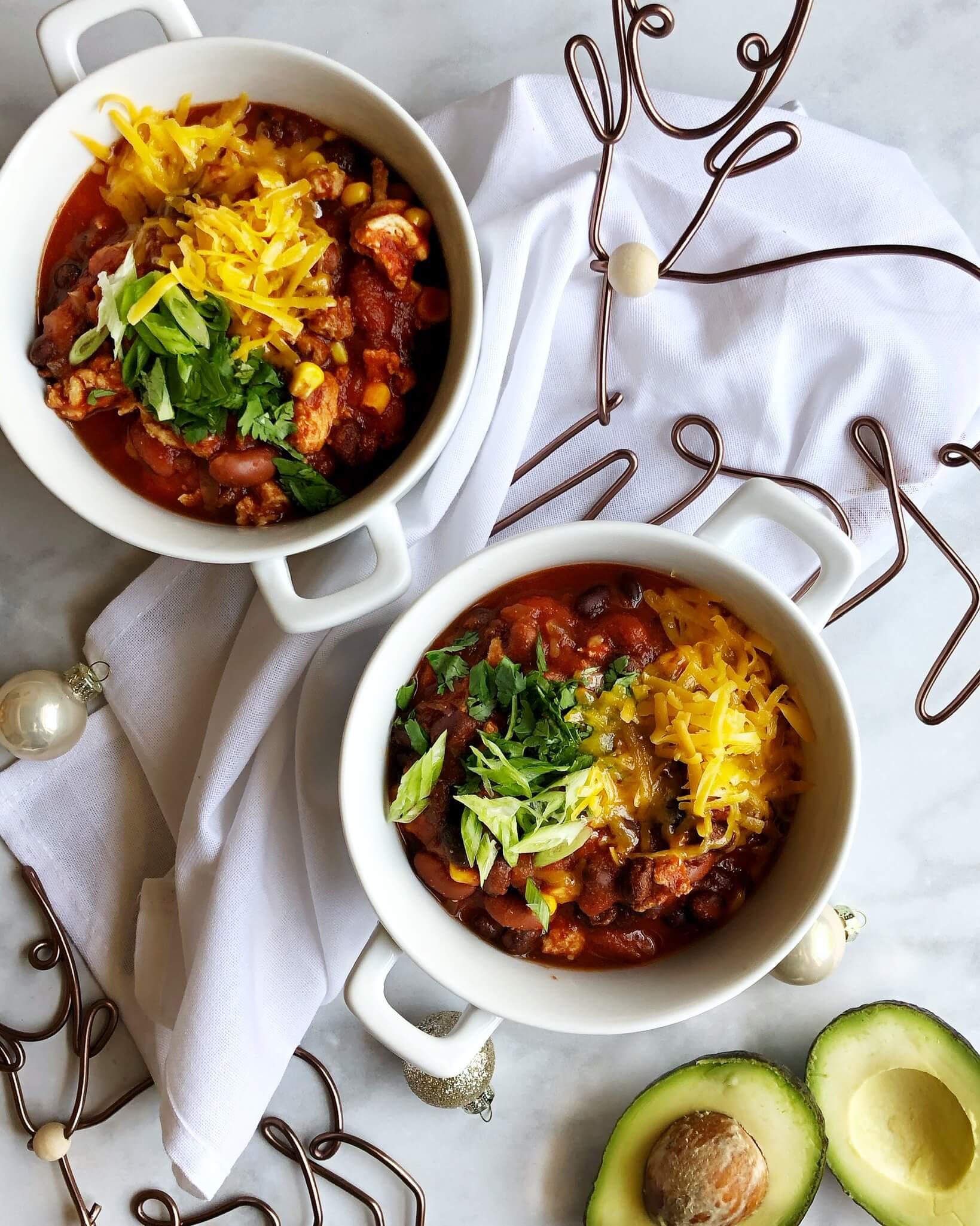 Slow cooker turkey mince chili