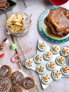 North Pole Breakfast Treat Ideas - cupcakes & snowman faces
